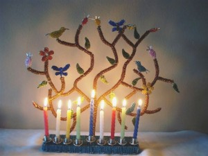 Tree of Life Menorah from South Africa
