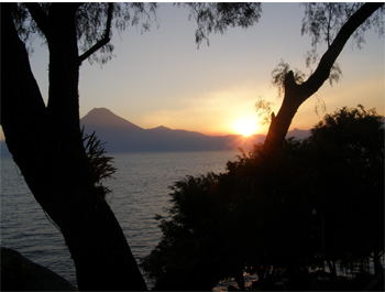 Lake Atitlan at dusk 11