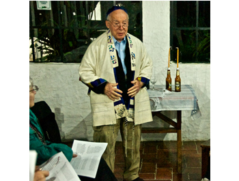 Joel leading Erev Shabbat services 09