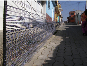 Ikat drying in the street 14