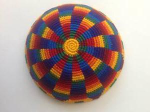 Psychedelic Rainbow Kippah