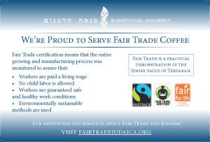 fair trade postcard
