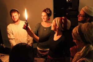 Celebrating Havdalah at Fair Trade Shabbat