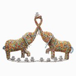 Baby Elephant Menorah at FTJ's secure online store