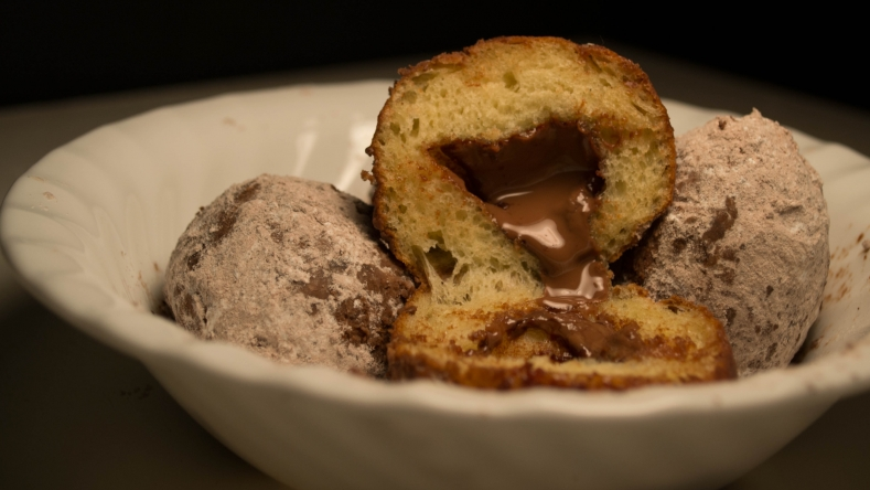 Chocolate filled sufganiot
