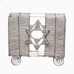 White Matzah Holder