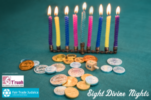 Menorah, Gelt and Dreidel