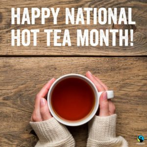 National Hot Tea Month Poster
