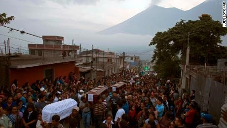 Earthquake Funeral Procession